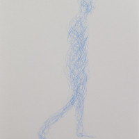 Walking - pencil on paer