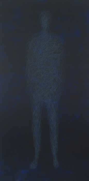 Standing, Acrylic and pencil on canvas