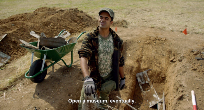 "Hugh, standing in the excavation pit: ""Open a museum, eventually"""