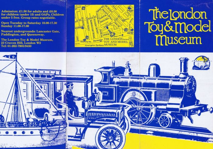 Leaflet for the London Toy and Model Museum